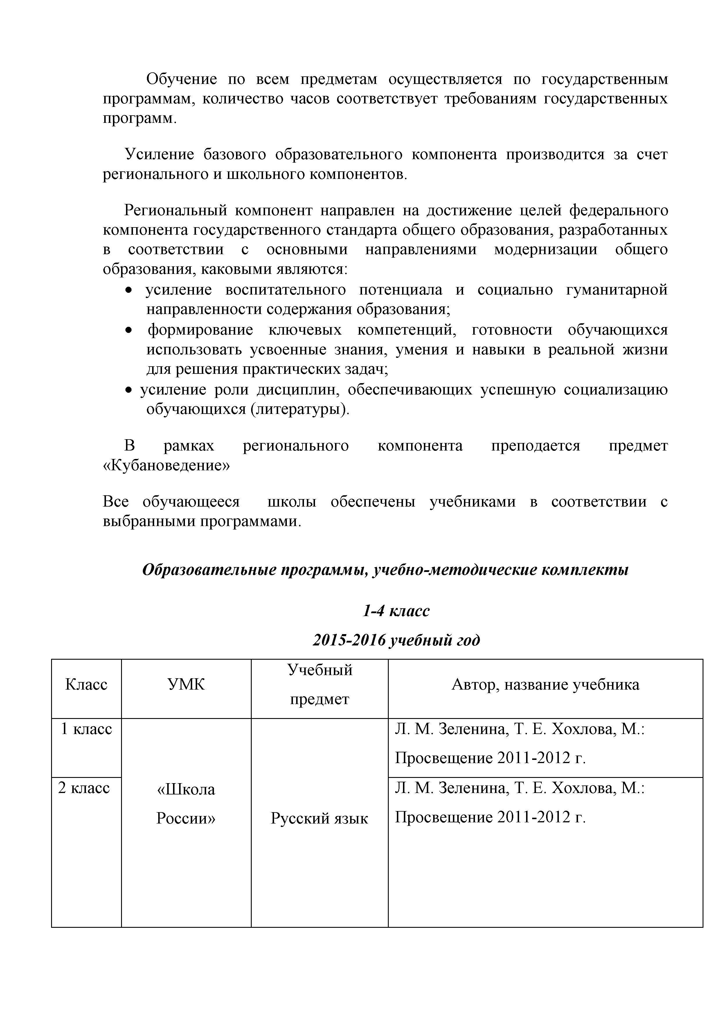 кубановедение 2 класс еременко зыгина шевченко